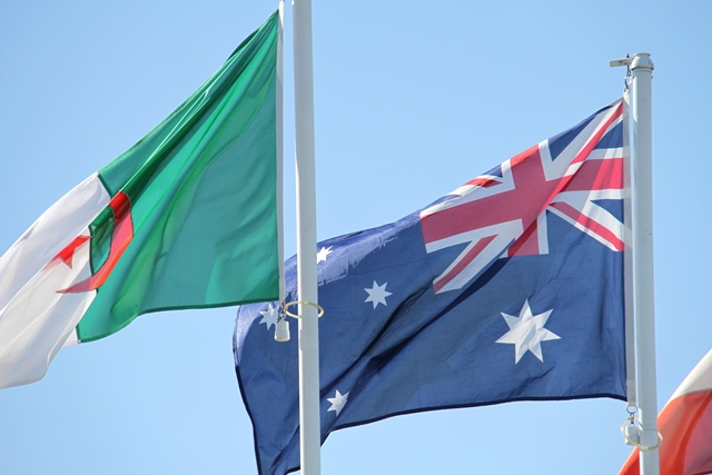Aussie Flag Flying