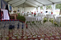 VIP tent ready!