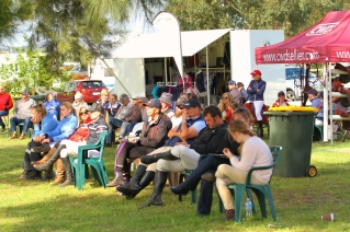 Crowds watch on the action!